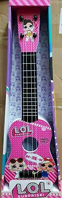Kids Girls Beginners Guitar 4 String Toy Children Music LOL PINK Toy *UK Seller* • 16.29£