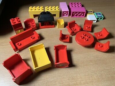 £17.99 • Buy Lego Duplo Furniture Mix Fireplace Table Chair Crib Bed Sofa Living Room Bundle