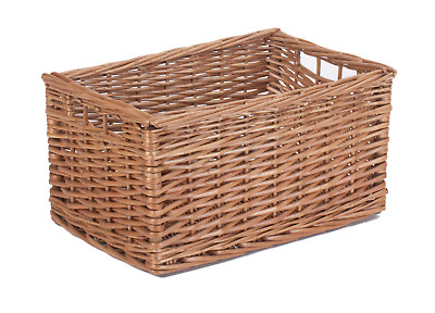 Willow Wicker Storage Baskets Brown Large Medium Small Drawer Hamper  • 25£