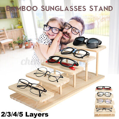 AU50.93 • Buy Sunglasses Stand Glasses Display Bamboo Jewelry Watches Layers Holder Show