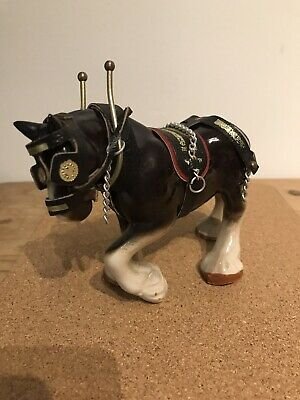 Shire Horse Ornament With Tack • 11£