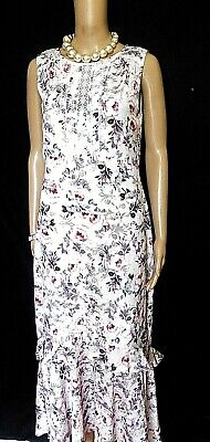 AU40 • Buy Forever New Pink Blush Floral Maxi Dress With Frill, Sz. 10, NWOT