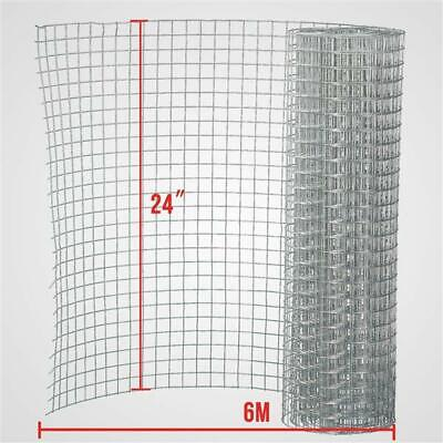 Galvanized Welded Wire Mesh Chicken Rabbit Silver Fence Roll Size: 24 X6m; Mesh  • 25£