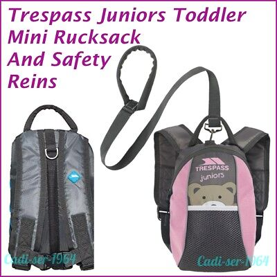 Trespass Child Backpack With Detachable Walking Safety Harness Reins Pink NEW • 13.99£