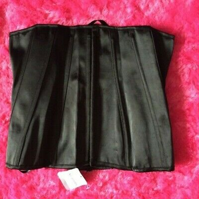 £27 • Buy Ann Summers  Black  Boned  Front Fasten  Corset   Stand Alone    Size 12  Nwts