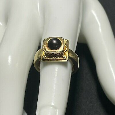 $799 • Buy Estate 18k Yellow Gold South Sea Mabe Pearl Ring - Size 5.75