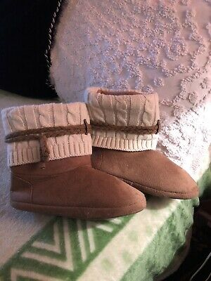 £10.86 • Buy Women's Slippers Booties Boots Faux Suede Beige Tan M/7-8/Nearly New!