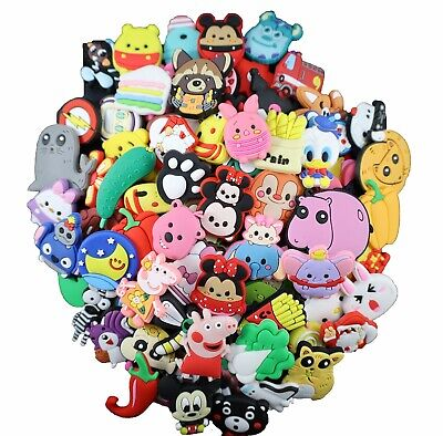 $ CDN11.39 • Buy Lot Of 20 30 50 100 200 Random PVC Shoe Charms Fit For Shoes With Holes And Brac