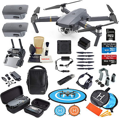AU2090.42 • Buy Dji Mavic Pro Drone Quadcopter Fly More Combo With 3 Batteries, 4K Professional