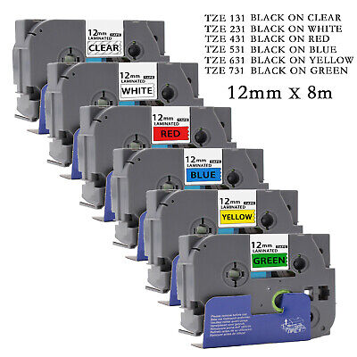 Compatible Brother TZ Tze Label Tape Printer P-Touch Laminated 12mm X 8m • 3.25£