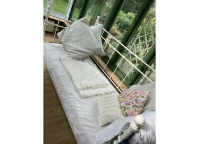 IKEA Tromsnes Metal Frame Single Day Bed In Ivory (without Mattress) • 35£