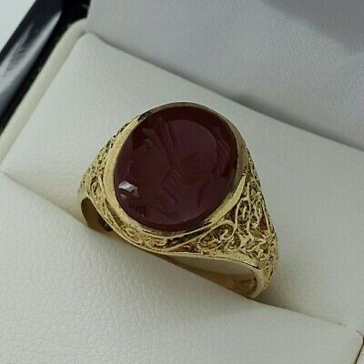 £225 • Buy 9ct Yellow Gold Intaglio Seal Ring, Finger Size N