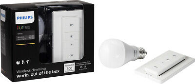 AU51.50 • Buy NEW NIB Philips Hue A19 LED Wireless Dimmer Kit 455386 - White