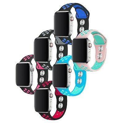 $ CDN8.60 • Buy Silicone Sport Band Strap For Apple Watch Series SE 6 5 4 3 40mm 44mm 38mm 42mm