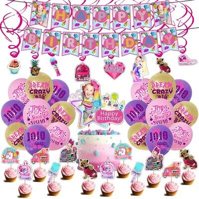 AU37.50 • Buy JOJO'S SIWA BOW Party Package Banner Balloon Cake/cupcake Topper