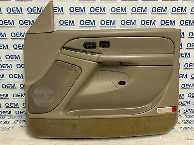 $169.77 • Buy 03 04 05 06 TAHOE SILVERADO Passenger/right Side FRONT Door Panel TAN OEM