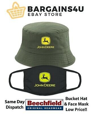 £9.95 • Buy John Deere Tractor Bucket Hat & Face Covering Mask Double Layer Country Life New