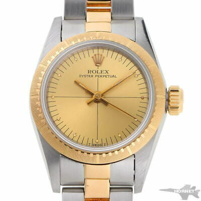 $ CDN4551.67 • Buy Rolex Oyster Perpetual Automatic 67243 Champagne Gold YG SS Men's Watch [b0204]