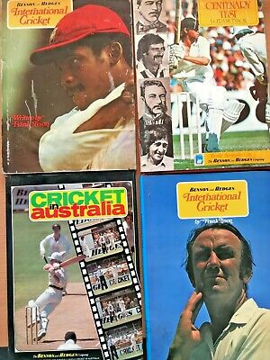 AU125 • Buy 4 Autographed  H/C Books FRANK (TYPHOON) TYSON International Cricket