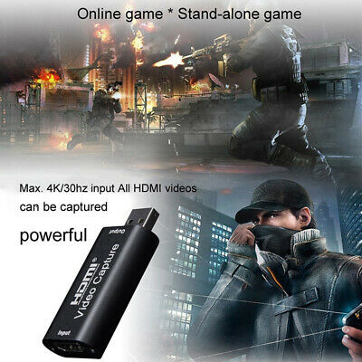 Portable HDMI To USB 2.0 Video Capture Card HD Grabber Recorder For Game/Video • 7.85£