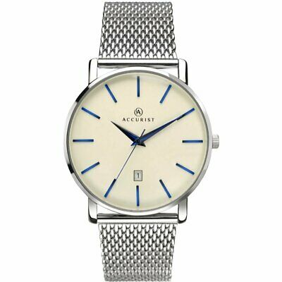 £37.99 • Buy Accurist Gents Classic Watch With Cream Dial And Silver Strap 7171