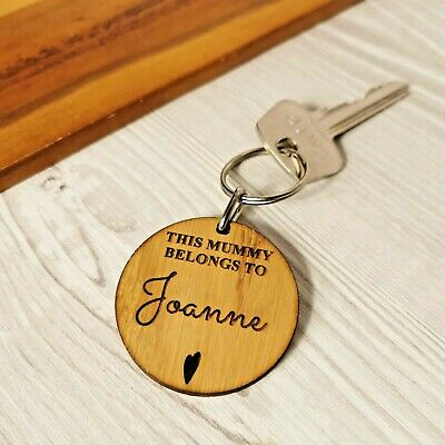 £2.99 • Buy Personalised Gifts For Her Mummy Nanny Nana Granny Auntie Godmother Keyring Gift