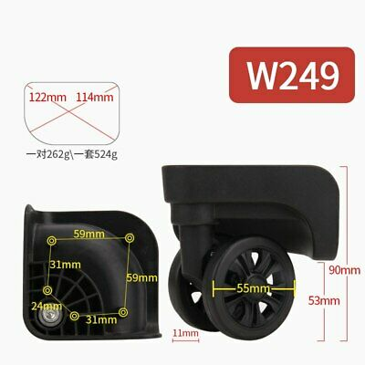 AU85.70 • Buy Luggage Universal Wheel Accessories Wheel Air Travel Luggage Pulley Casters