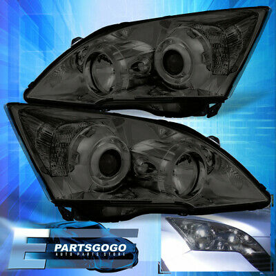 $443.99 • Buy Smoke Projector Headlights Lamps For 2007-2011 Honda Cr-V Clear Side Reflectors