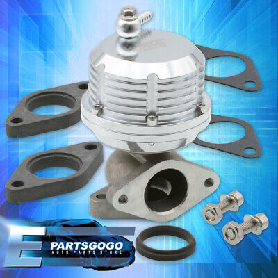 $56.99 • Buy For 35mm 38mm Silver Aluminum Steel External Waste Gate Manifold Turbo Charger