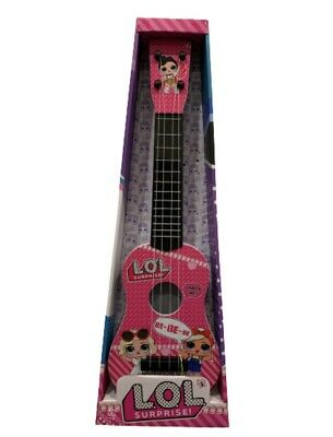 Kids Girls LOL Guitar Beginners 4 String Toy Children Music PINK Toy *UK Seller* • 16.49£