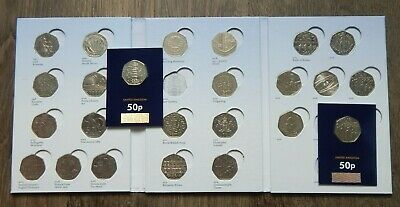 FULL 50 Pence UK Coins Collection 1997-2020 +  Collectors Album And All 25 Coins • 98.99£