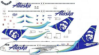 Alaska Airlines A320 Model Airliner Decal 1:144 Scale For Revell/ Zvezda Kit • 7£