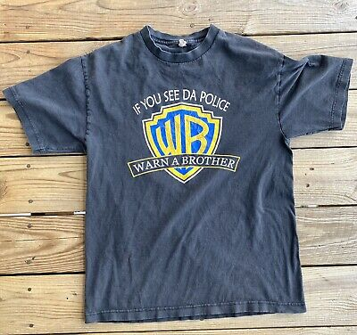 Vintage If You See Da' Police Warn A Brother Shirt Size Large Spoof Comedy • 10.72£