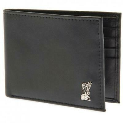 Liverpool Fc Metal Crest Genuine Leather Wallet - Official Football Gift, Lfc • 23£