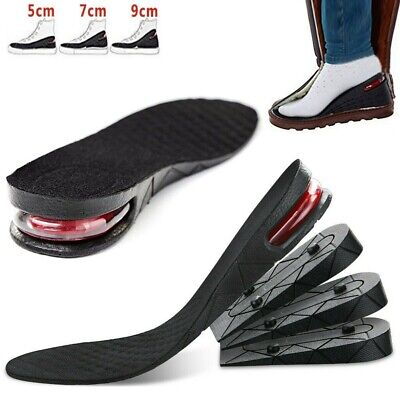 Shoe Height Increase Insoles Heel Lift 3-9cm Air Support Cushion Unisex Washable • 7.99£