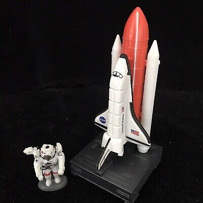 Realtoy DISCOVERY USA SPACE SHUTTLE On Stand With Astronaut Toy NASA • 18.99£