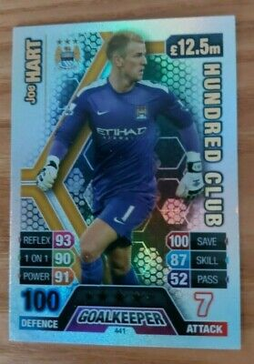 £3.50 • Buy Match Attax 2013/14 Foiled Hundred Club Card Man City's Joe Hart