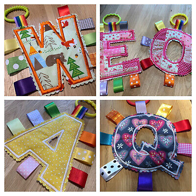 £8.49 • Buy Baby/Child Taggy Letter Toy, Pram, Highchair, Carseat, Nursery, Girl/Boy, Gift