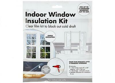 £3.14 • Buy Window Insulation Kit Shrink Fit Double Glazing Film Cold Winter Freezing Safety