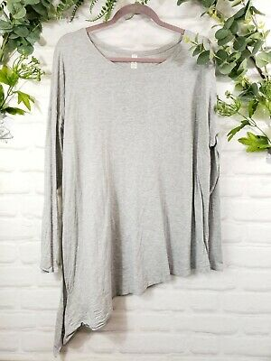 $ CDN60 • Buy Lululemon To The Point Long Sleeve Size 12 Heathered Core Grey Tee
