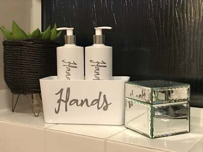 £13 • Buy Hand Wash And Hand Lotion Pump Bottles With Matching Caddy