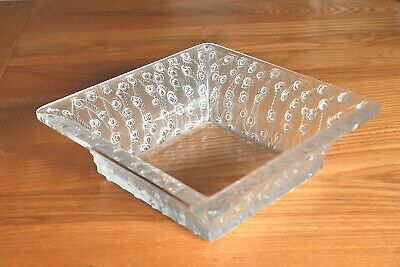 Lalique Large Square Roses Bowl Stunning Condition. • 495£