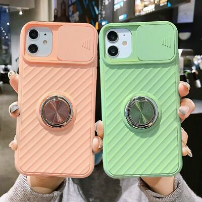AU13.60 • Buy Slide Camera Protection Case With Magnetic Ring Holder IPhone Shockproof Cover