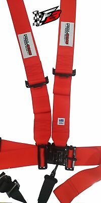 AU139 • Buy 3  FULL BORE Harness 5 Point SFI 16.1 Latch/Link (RED)