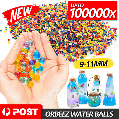 AU5.85 • Buy 50000pcs Crystal Water Balls Jelly Gel Beads For Vases Orbeez MultiColor AU