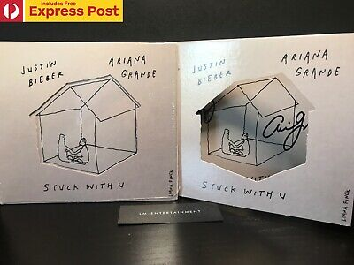 AU59.95 • Buy JUSTIN BIEBER X ARIANA GRANDE STUCK WITH U HAND SIGNED CD COVER + SEALED CD NEW