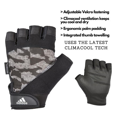 £6.99 • Buy Adidas Half Finger Performance Weight Lifting Gloves Mens Training Gym Workout