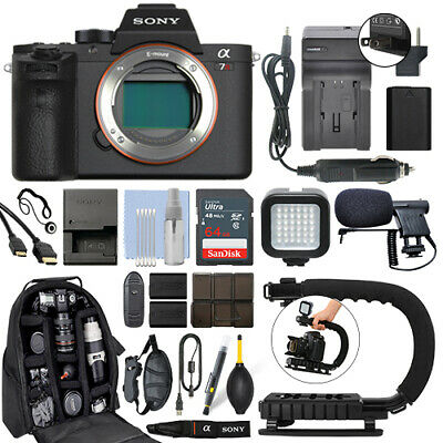 $ CDN1893.39 • Buy Sony Alpha A7R II Mirrorless 42MP 4K Digital Camera Body + 64GB Pro Video Kit