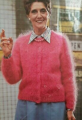 Knitting Pattern Ladies Mohair  Cardigan  (w150) • 2.99£
