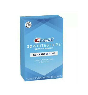 AU22.76 • Buy Crest 3D Whitestrips Classic White Teeth Whitening Kit - 10 Treatments 20 STRIPS